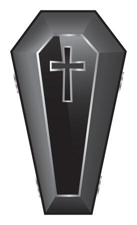 Black Coffin Illustration.