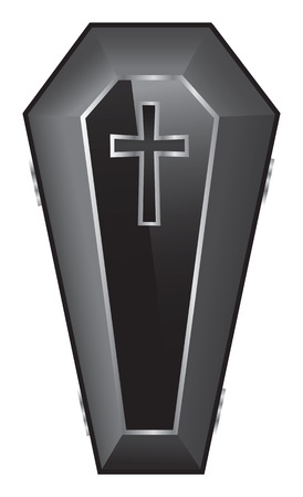 Black Coffin Illustration. Vector