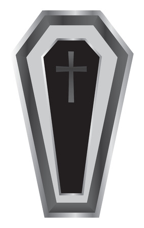 Black Coffin Vector Illustration. Vector