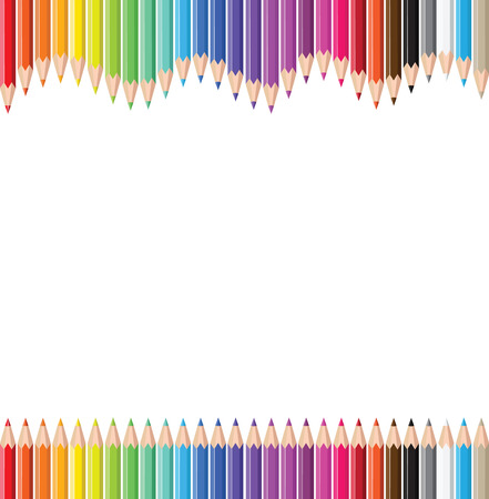 Coloured pencils. Vector
