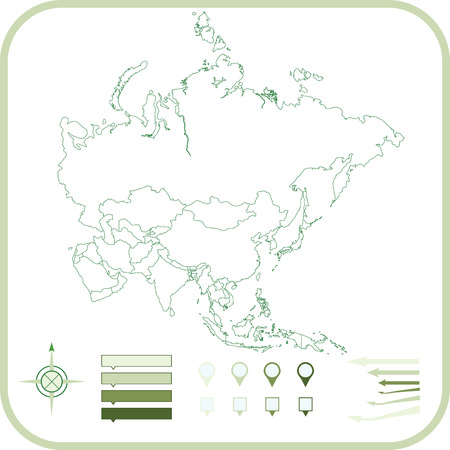 Asia Map, illustration.  Stock Vector - 22846909
