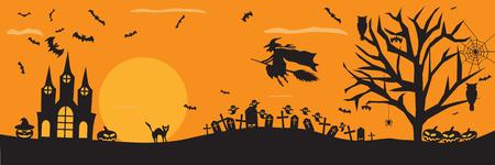 Fondo fantasmagórico de Halloween Foto de archivo - 22846914
