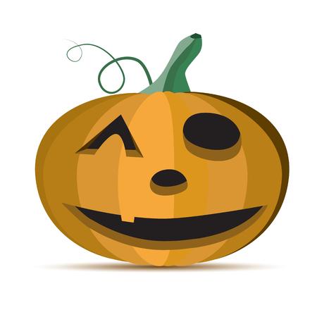 terrible: Scary Halloween Pumpkins Illustration.