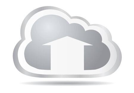 Cloud app icon - upload files  Vector