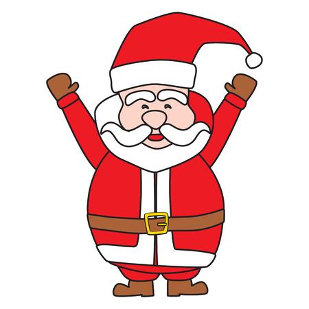 white bacjground: Santa claus on white background Vector illustration  Illustration