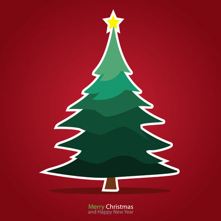 december background: Christmas card  Illustration