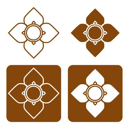 line thai: Line thai art pattern vector illustration. Illustration