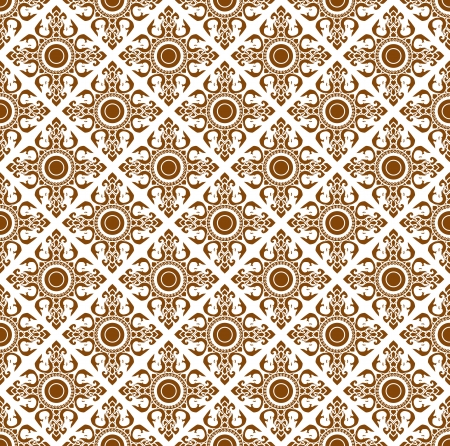 Line Thai art pattern vector illustration.