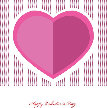 esp card: Valentines hearts. Vector illustration.  Illustration
