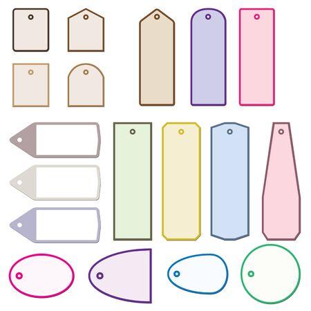 Set of simple labels  illustration with design elements   illustration
