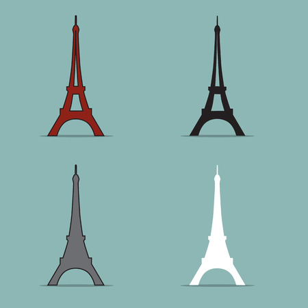 Eiffel Tower Set Vector.  Vector