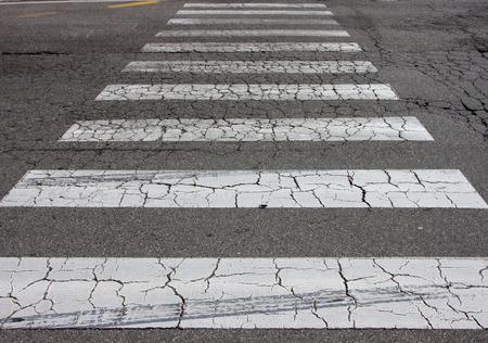 The crosswalk way in the city. photo