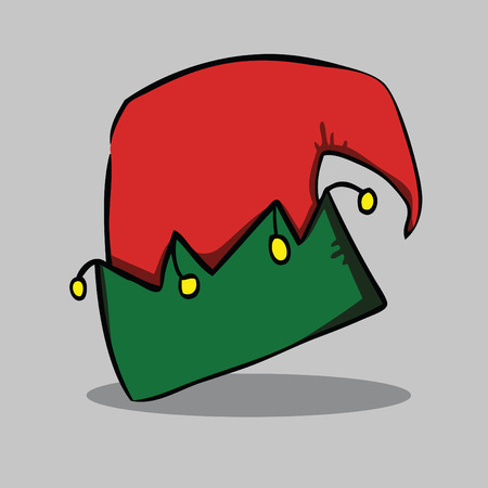 Santa hat, vector illustration.