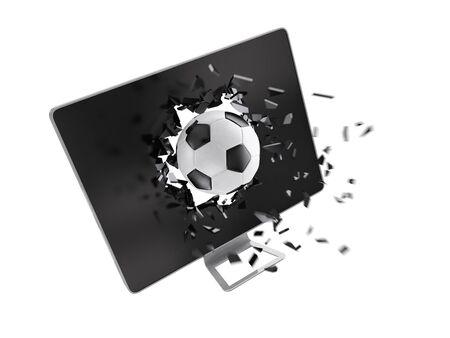 destroy: football destroy computer screen.