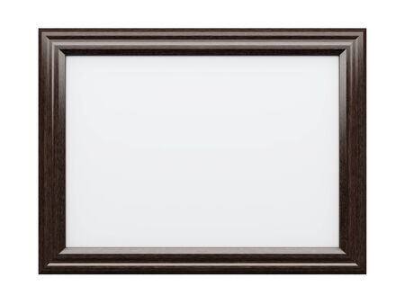 empty box: Realistic picture frame isolated on white background, Perfect for your presentations.