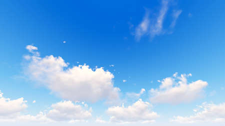 blue cloudy sky: Cloudy blue sky abstract background, blue sky background with tiny clouds, 3d illustration Stock Photo