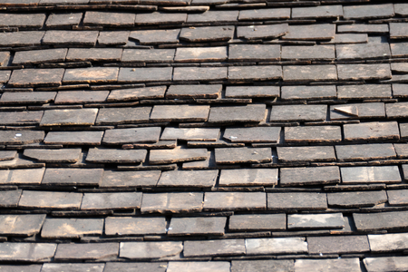 slate roof: Abstract Detail of Old Slate Roof Tiles, abstract background Stock Photo