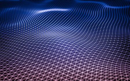 estructura: espacio poligonal baja poli fondo oscuro abstracto con los puntos y líneas de conexión. estructura de conexión. Foto de archivo