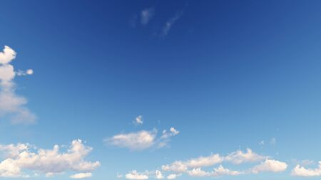 cloudiness: Cloudy blue sky abstract background, blue sky background with tiny clouds, 3d illustration Stock Photo