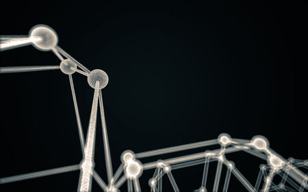 teamwork concept: Science Molecule DNA Model Structure, business teamwork concept