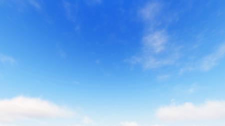 小さな雲、3 d レンダリングと曇り青空抽象的な背景、青い空を背景
