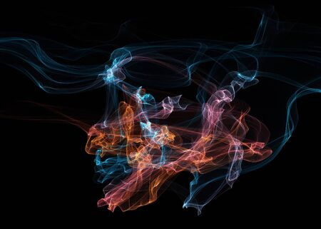 motion picture: Dark abstract background with a glowing abstract waves, abstract background