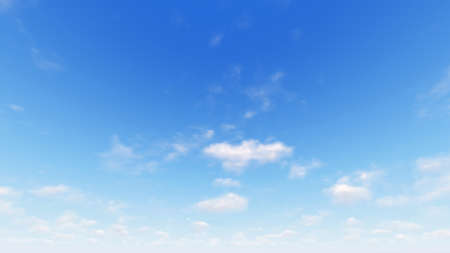 front view: Cloudy blue sky abstract background, blue sky background with tiny clouds, 3d illustration Stock Photo