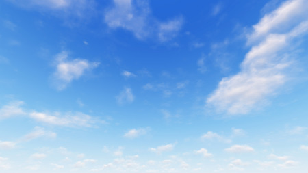 moisture: Cloudy blue sky abstract background, blue sky background with tiny clouds, 3d illustration Stock Photo