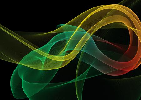 Donkere abstracte achtergrond met gloeiende abstracte golven, abstracte achtergrond Stockfoto