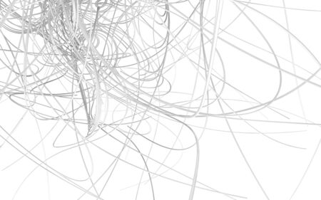 cable tangle: tangled wires white, abstract background, white background