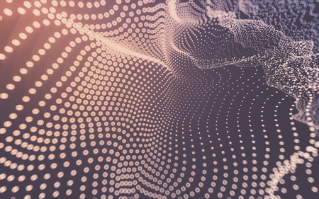 metal mesh: Abstract polygonal space low poly dark background with connecting dots and lines. Connection structure. 3d rendering