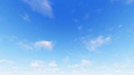 high: Cloudy blue sky abstract background, blue sky background with tiny clouds, 3d illustration Stock Photo