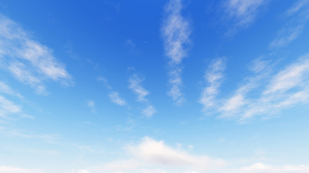 曇った青空の抽象的な背景、小さな雲と青い空の背景、3d イラスト