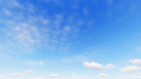 小さな雲が、3 d イラストレーション曇り青空抽象的な背景、青い空を背景