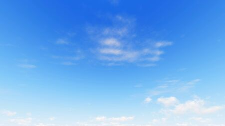 Cloudy blue sky abstract background, blue sky background with tiny clouds, 3d illustration 스톡 콘텐츠