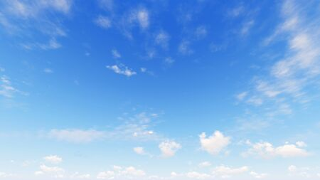 Cloudy blue sky abstract background, blue sky background with tiny clouds, 3d illustration 写真素材