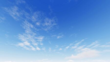 Cloudy blue sky abstract background, blue sky background with tiny clouds, 3d illustration Stok Fotoğraf
