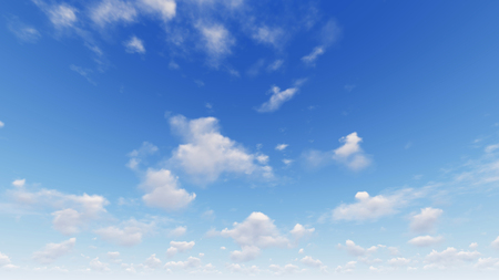 Cloudy blue sky abstract background, blue sky background with tiny clouds, 3d illustration Stock Photo