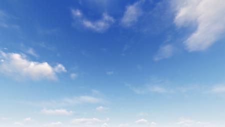 Abstrait de ciel bleu nuageux, fond de ciel bleu avec de petits nuages, rendu 3d Banque d'images