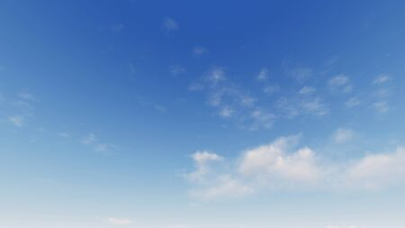 Cloudy blue sky abstract background, blue sky background with tiny clouds, 3d rendering Imagens - 132123824