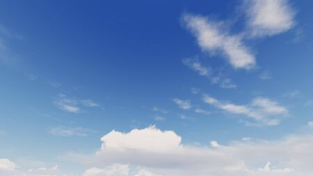 Cloudy blue sky abstract background, blue sky background with tiny clouds, 3d rendering Фото со стока - 130782560
