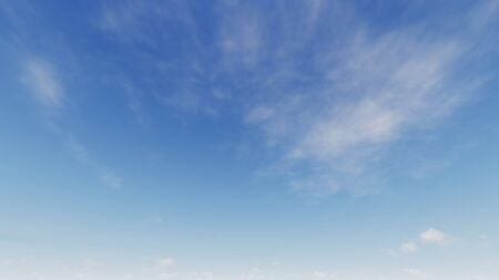 Cloudy blue sky abstract background, blue sky background with tiny clouds, 3d rendering Фото со стока - 130785813