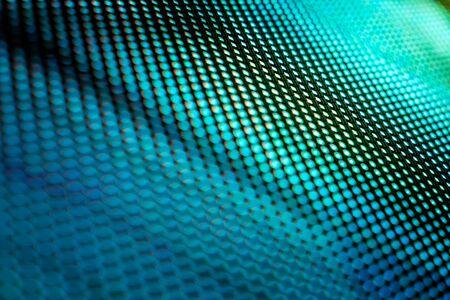 CloseUp LED verschwommener Bildschirm. LED-Soft-Fokus-Hintergrund. abstrakter Hintergrund ideal für Design.