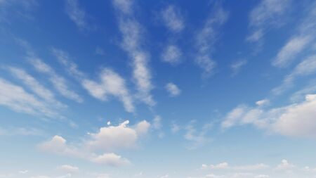 Cloudy blue sky abstract background, blue sky background with tiny clouds, 3d rendering Stok Fotoğraf - 131402278