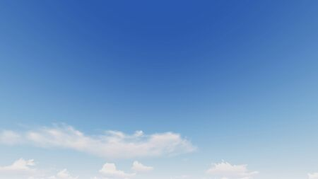 Cloudy blue sky abstract background, blue sky background with tiny clouds, 3d rendering