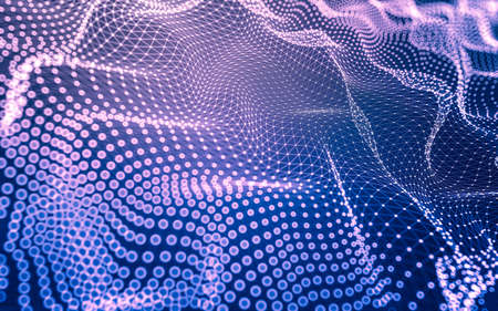 Abstract background. Molecules technology with polygonal shapes, connecting dots and lines. Connection structure. Big data visualization. Stock Photo - 154926564