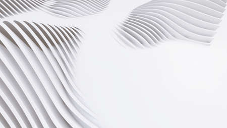 Abstract Curved Shapes. White Circular Background. Abstract background. 3d illustration