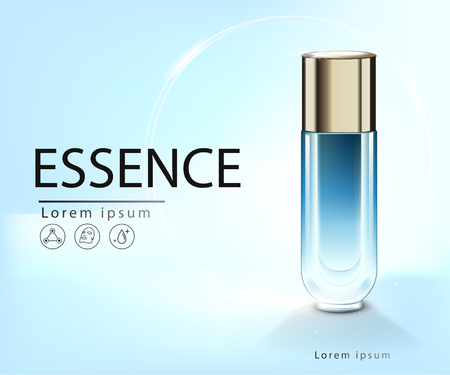 Facial Treatment Essence Skin Care Cosmetic. 矢量图像
