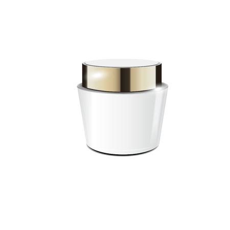 Elegant cream container, 3D illustration cosmetic plastic container template for cream, gel. 矢量图像