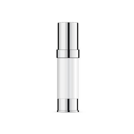 blank packaging cosmetic plastic tube isolated on gray background